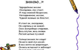 Анализ стихотворения «зима» (ф. и. тютчев)