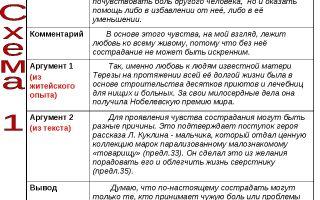 Проблемы и аргументы к егэ по русскому на тему: сострадание (таблица)