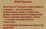 Сочинение на тему: мой пушкин