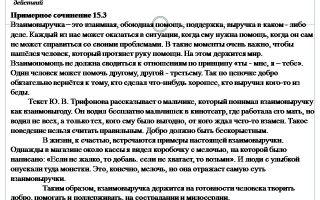 Сочинение 15.3 «что такое взаимовыручка» по тексту яковлева