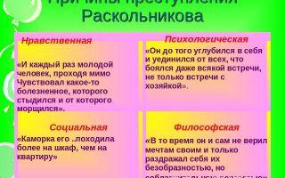 Причины преступления раскольникова по роману «преступление и наказание»