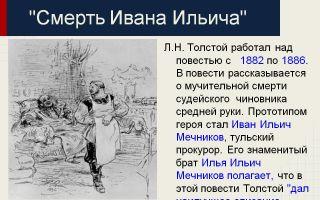 Кратчайшее содержание повести «смерть ивана ильича» для читательского дневника (л. толстой)