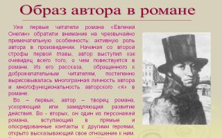 Образ автора в романе а.с. пушкина «евгений онегин»