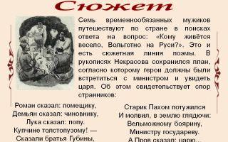 Краткое содержание поэмы «кому на руси жить хорошо» по главам (н. некрасов)
