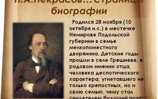 Краткая биография некрасова: самое главное и основное