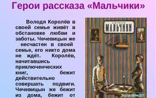 Анализ произведения чехова «мальчики»