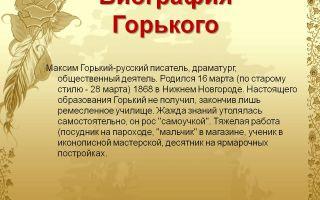 Биография максима горького: жизнь и творчество писателя