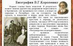 Краткая биография в. г. короленко: самое главное и основное