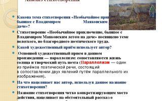 Анализ стихотворения «необычайное приключение» (в. маяковский)