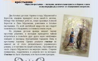 Отзыв о произведении «барышня крестьянка» для читательского дневника (а.с. пушкин)