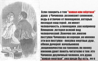 Сочинение «мертвые души: чичиков»