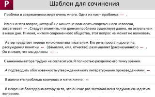 Пример сочинения на егэ по русскому языку