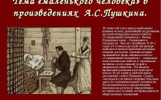 Человек в творчестве пушкина