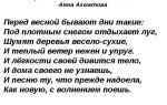 Анализ стихотворения «перед весной бывают дни такие» (а. ахматова)