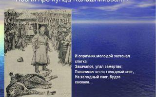 Краткое содержание поэмы «песня про купца калашникова» по главам (м. ю. лермонтов)