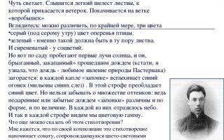 Анализ стихотворения «во всем мне хочется дойти…» (б. л. пастернак)