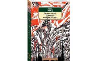 Анализ книги джона рида «десять дней, которые потрясли мир»