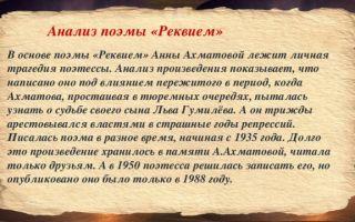 «реквием», анализ поэмы ахматовой