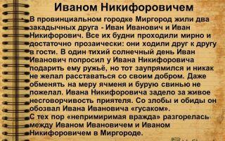 Кратчайшее содержание повести «как поссорился иван иванович с иваном никифоровичем» (н. гоголь)