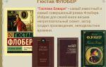 Анализ романа флобера «госпожа бовари»