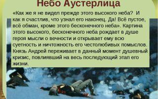 Анализ эпизода «небо аустерлица» из романа «война и мир»